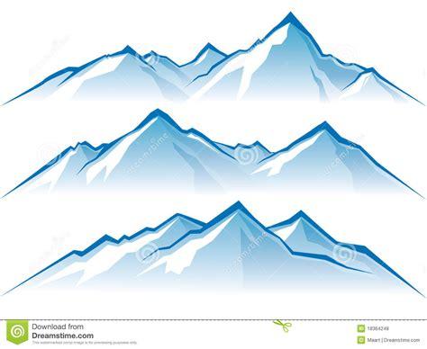 Snowy Mountain Clip Art