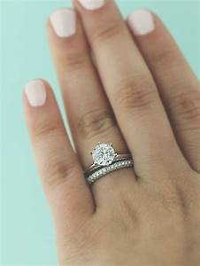 70 best mix and match rings images on pinterest wedding With best wedding band for solitaire engagement ring