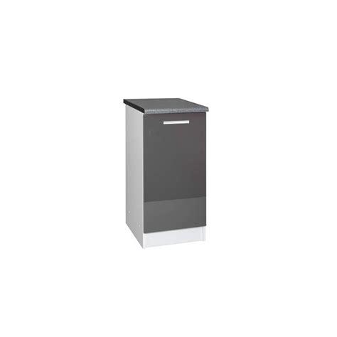 meuble bas cuisine 1 porte meuble bas cuisine tara 30 cm 1 porte 1 étagère laqué brillant