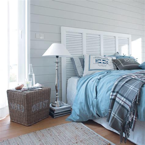 theme chambre adulte être au bord de la mer tous les jours couvre lit bleu