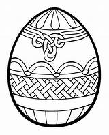 Coloring Easter Egg Printable Adults sketch template