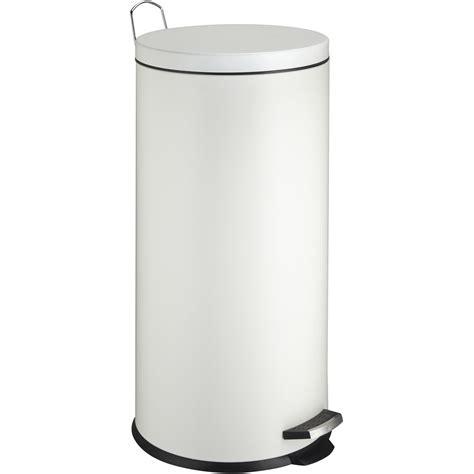poubelle cuisine pedale 30 litres poubelle de cuisine à pédale frandis métal blanc 30 l