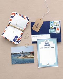 clockwise from top left airmail envelope letterboxcocom With martha stewart wedding invitations michaels
