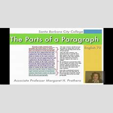 Parts Of A Paragraph, Part One Youtube