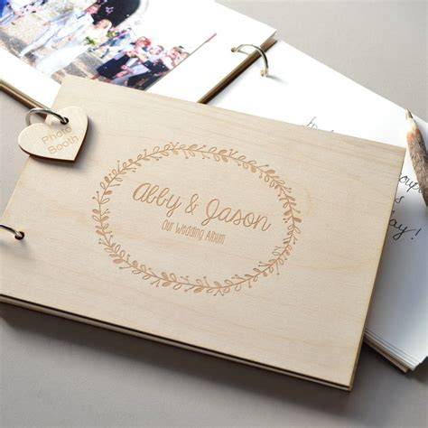 Wedding Guest Book by Personalised Wreath Wedding Guest Book By Clouds And