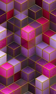 3D Cubes Colorful Pink HD Wallpaper - 1080x1920
