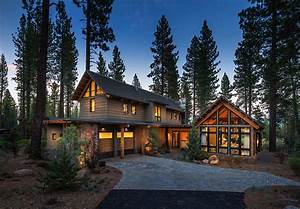 Rustic mountain house with a modern twist in Truckee