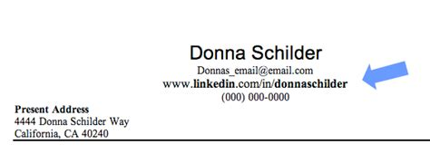 add your linkedin profile url to your resume and e mail
