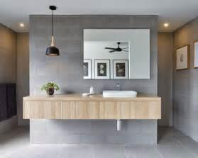 Modern Gray Tile Bathroom