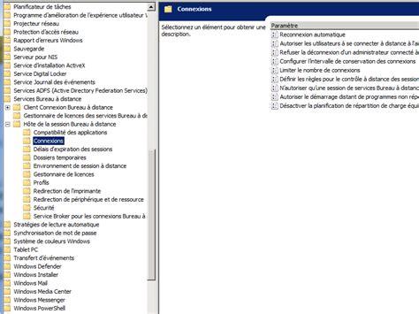 service bureau à distance windows 7 problème bureau à distance grisé