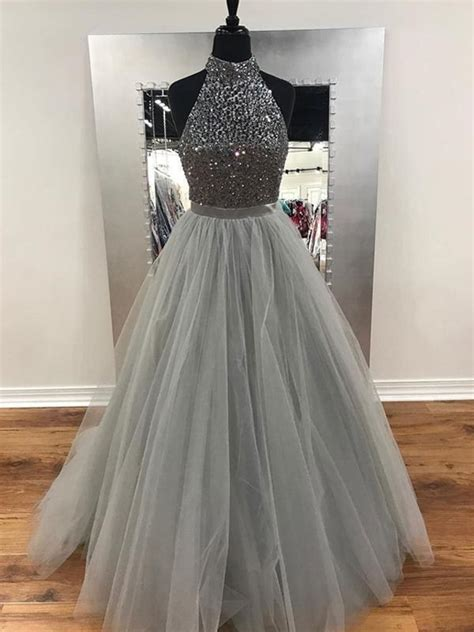 unique   silver prom dress cheap formal gowns dress
