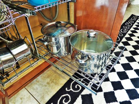 kitchen cabinet organizers for pots and pans kitchen organization ideas pots pans be my guest with 9652