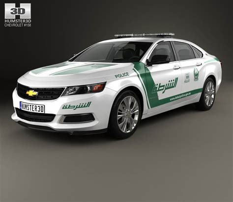 Chevrolet Impala Police Dubai 2014 3d Model Humster3d