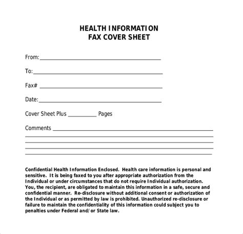 fax cover template   word  documents dwonload