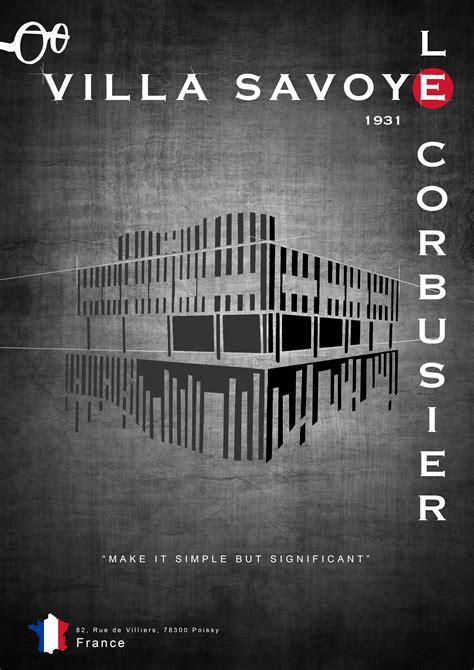 Le Glühbirne Design by Villa Savoye Poster Le Corbusier Poster Ideas Le