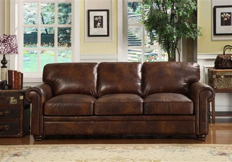 Rustic Dark Brown Leather Sofas