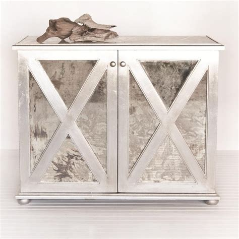Worlds Away Large Reverse Mirror Chest In Silver Leaf