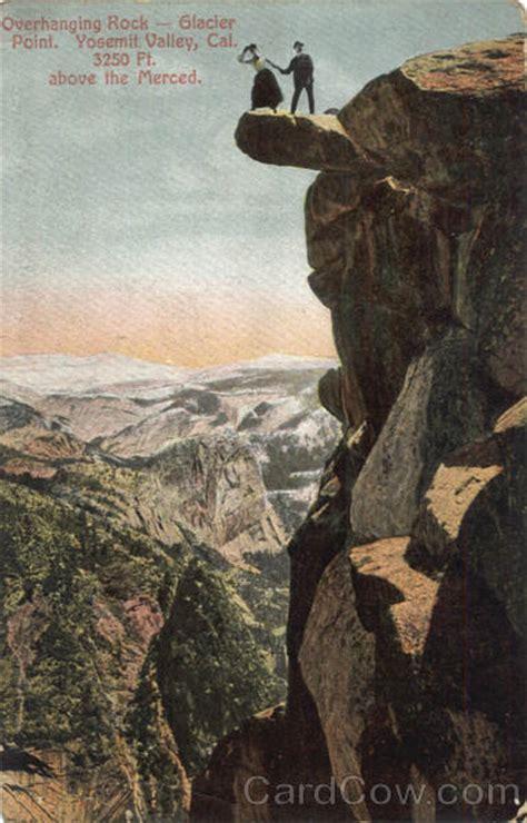 overhanging rock glacier point yosemite valley ca