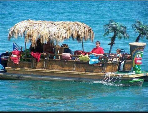 Tiki Bar Boat by Tiki Boat Tiki Pontoon Boat Boat Barge