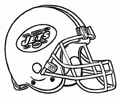 Helmet Coloring Football Pages Drawing Nfl College