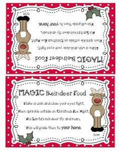 Blank Reindeer Food Bar Printable Label Search Results