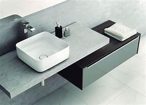 Meuble Vasque à Poser : meuble bas salle de bain design ~ Teatrodelosmanantiales.com Idées de Décoration