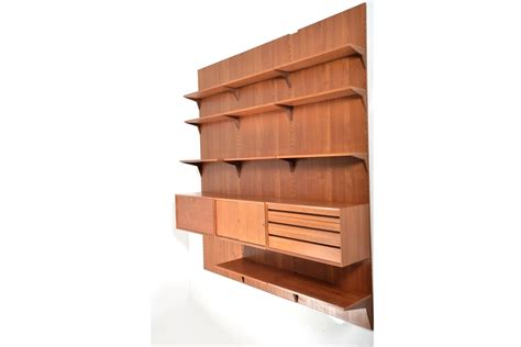 mid century wall l mid century wall unit by poul cadovius for cado 1960s for
