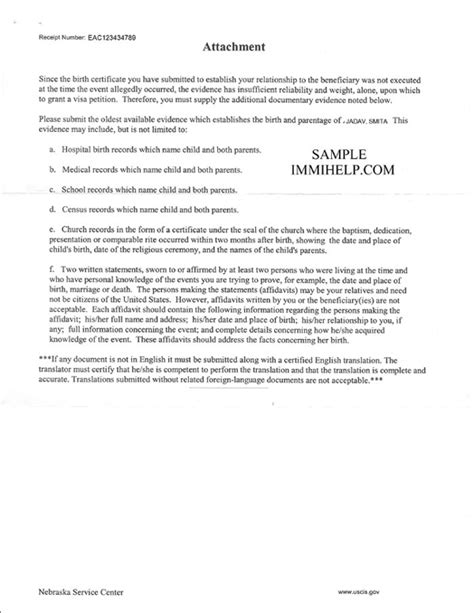 Immigration Form For Siblings by Sle Birth Certificate Rfe For I 130 In F4 Category For