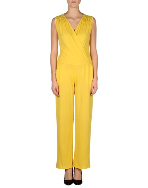 womens yellow jumpsuit options jumpsuit in yellow save 50 lyst