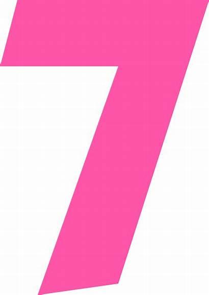 Number Seven Clipart Clip Clker Vector Transparent