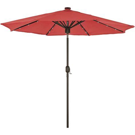courtyard creations 9 ft led bluetooth market umbrella