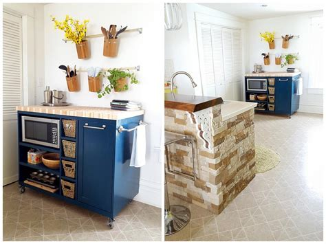 Rolling Kitchen Island   buildsomething.com