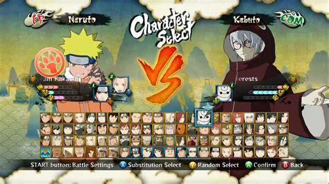 Naruto Shippuden Ultimate Ninja Storm 3 Personnage All