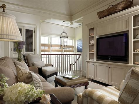 Second Living Room Cabinets by Second Floor Landing Family Room With Ivory Paneled