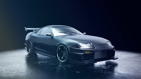 Black Toyota Supra Hd Wallpaper