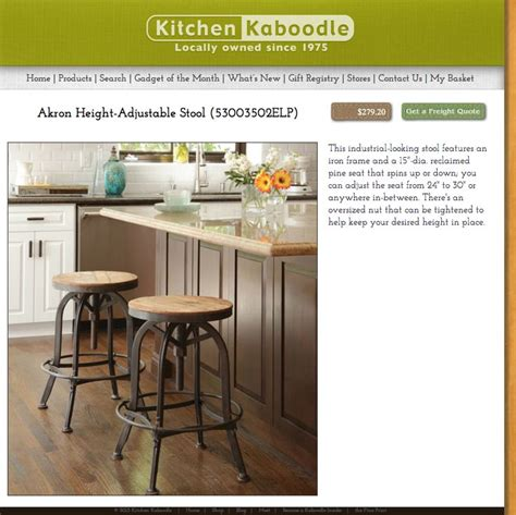 kitchen kaboodle stool   bng furniture home decor