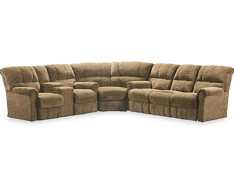 sectional sleeper sofa with recliners griffin reclining sectional sectionals lane furniture