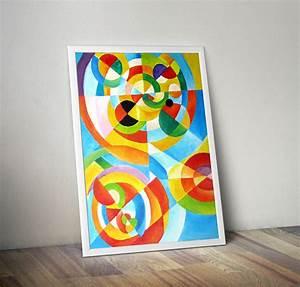Tableau Contemporain Grand Format : tableau contemporain color grand format my preziosa ~ Teatrodelosmanantiales.com Idées de Décoration