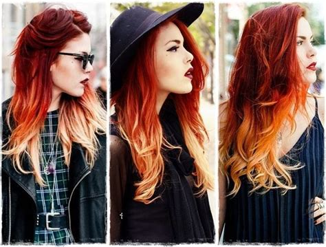 ombre hair fire pesquisa google colofully pinterest