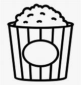 Popcorn Coloring Clipart Clipartkey Transparent sketch template