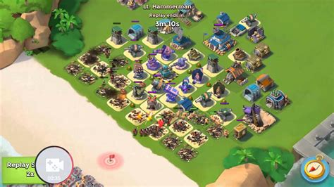 foto de Boom beach hq 17 hammerman defense lvl 62 YouTube