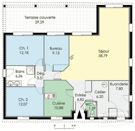 plan maison plain pied 4 chambres gratuit amazing maison familiale dtail du plan de maison familiale