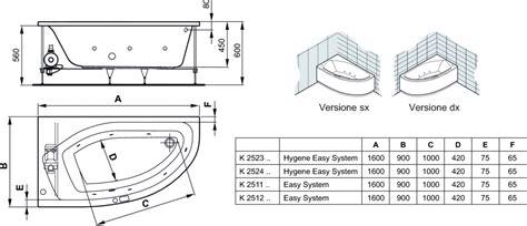 vasche da bagno ideal standard active vasca da bagno idromassaggio cm 160x90 dx ideal