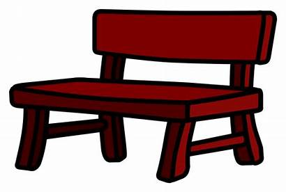 Bench Clipart Clip Sitzbank Empty Library Furniture