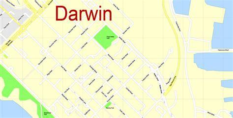 map darwin australia printable editable city plan adobe
