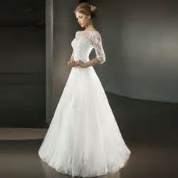discount wedding gowns 2016 cheap a line wedding dresses with half sleeve
