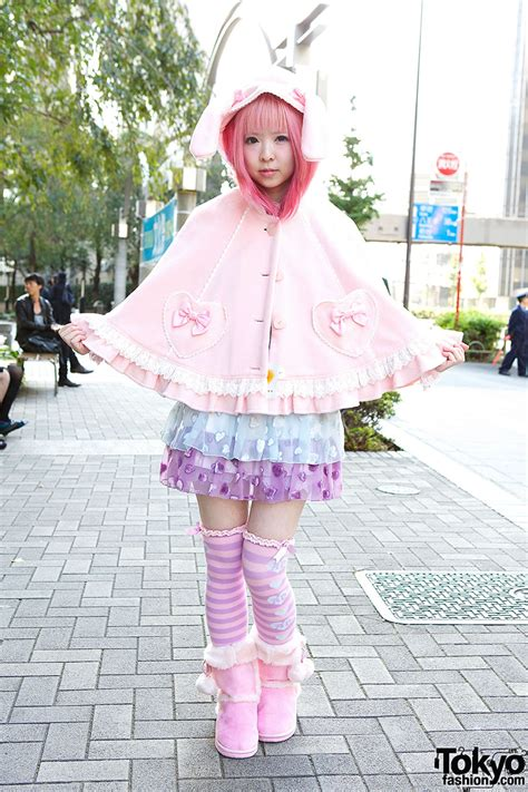 Strawberry Planet Moco in Angelic Pretty Bunny Ears & 6