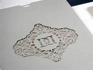 bespoke laser cut wedding invitations uk intricate creations With laser cut wedding invitations with initials