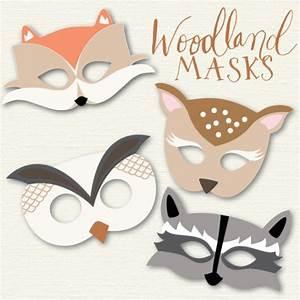 woodland animal mask woodland animal masks halloween With woodland animal mask templates