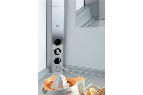 bloc prise d angle cuisine bloc 3 prises d 39 angle pour crédence accessoires de cuisines